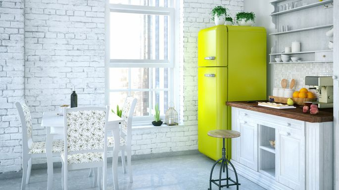 Add a Retro Fridge to Your Kitchen
