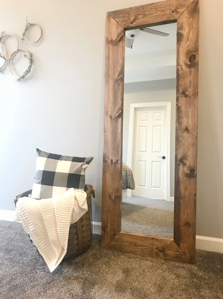 How to Build a 6ft Wooden Mirror for under $200